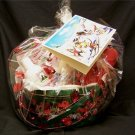 Dog Pet Gift Christmas Basket -Toy Chews Holistic Treats Shampoo Fine Art Card