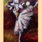 10 Original Art Blank Note Greeting Cards / Envelopes Set BALLERINA POODLE DOG After Degas