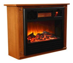 Amish Inspired Infrared Fireplace Heater Heats 1500 Sq Ft