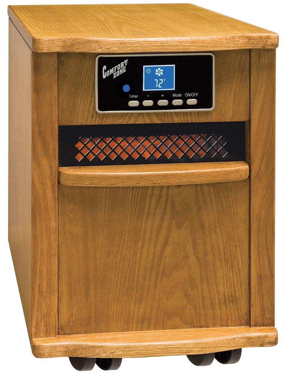 Comfort Zone Oak Infrared Quartz Heater