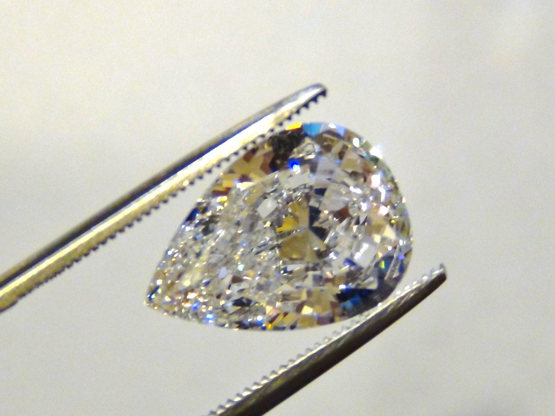 PEAR CUT RUSSIAN LAB DIAMOND 11 X 7.5 MM