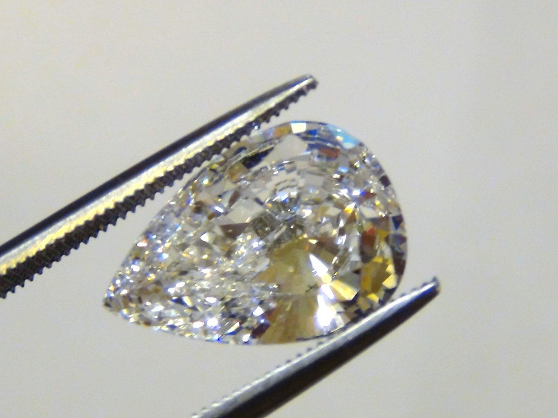 PEAR CUT RUSSIAN LAB DIAMOND 14 X 10 MM