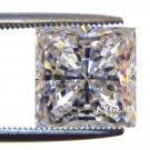 PRINCESS CUT RUSSIAN LAB DIAMOND SIM 6.75 X 6.75 MM