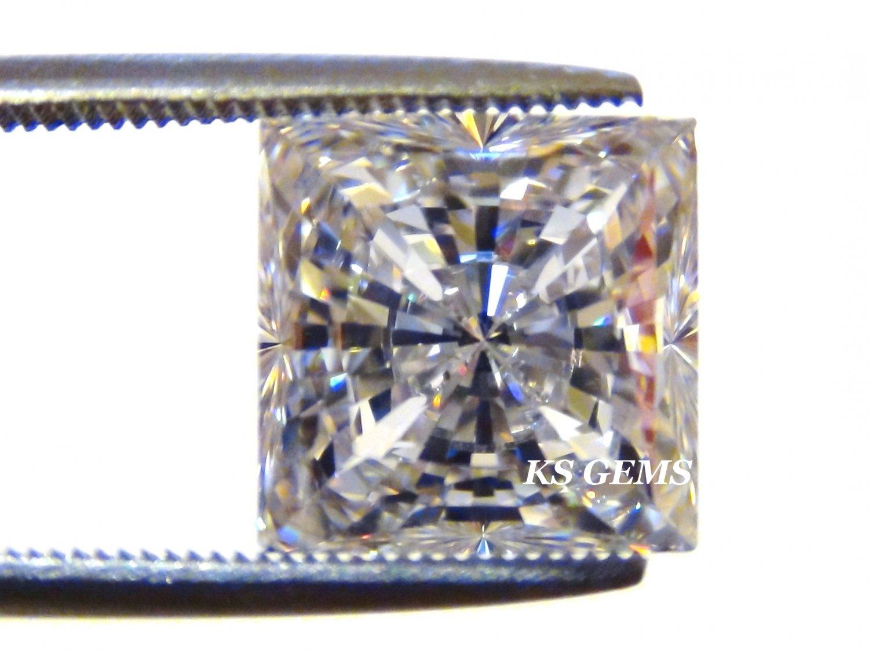PRINCESS CUT RUSSIAN LAB DIAMOND SIM 12.00 MM
