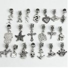 Silver-look bracelet dangles/charms x 100