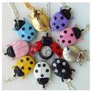 Ladybug pendant watches x 10