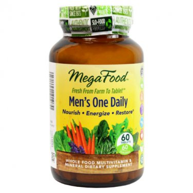 MegaFood Men's One Daily  60 Tablets LOWEST PRICE Free Shipping