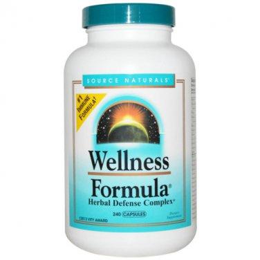 Source Naturals Wellness Formula Capsules - 240 caps