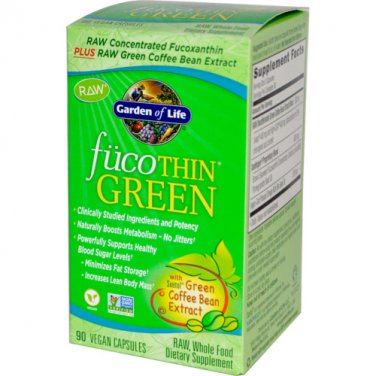 Garden of Life Fucothin Green, 90 Caps (Pack of 2)