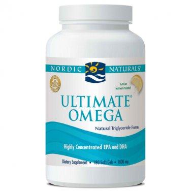 Nordic Naturals Ultimate Omega 1000 mg Fish Oil 180 Soft Gels