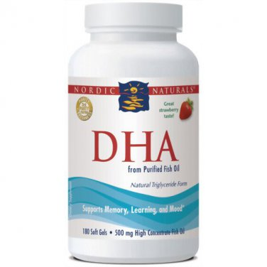 Nordic Naturals DHA Strawberry 180 Count
