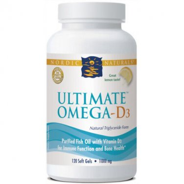 Nordic Naturals Ultimate Omega D3 1000 mg 120 Count