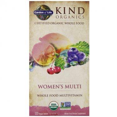 Garden of Life mykind Organics Women's Once Daily Multi, 60 Organic Tablet