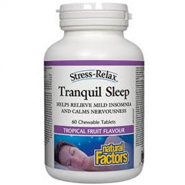 Natural Factors Stress-Relax Tranquil Sleep, Chewable Tablets - 60 tablets