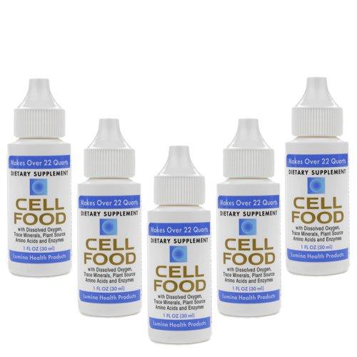 5 Bottle Lumina CellFood Cell Food 1oz 30ml Original Formula