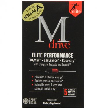 M Drive Elite Performance Energize Testosterone Support w KSM-66 & Fenugreek