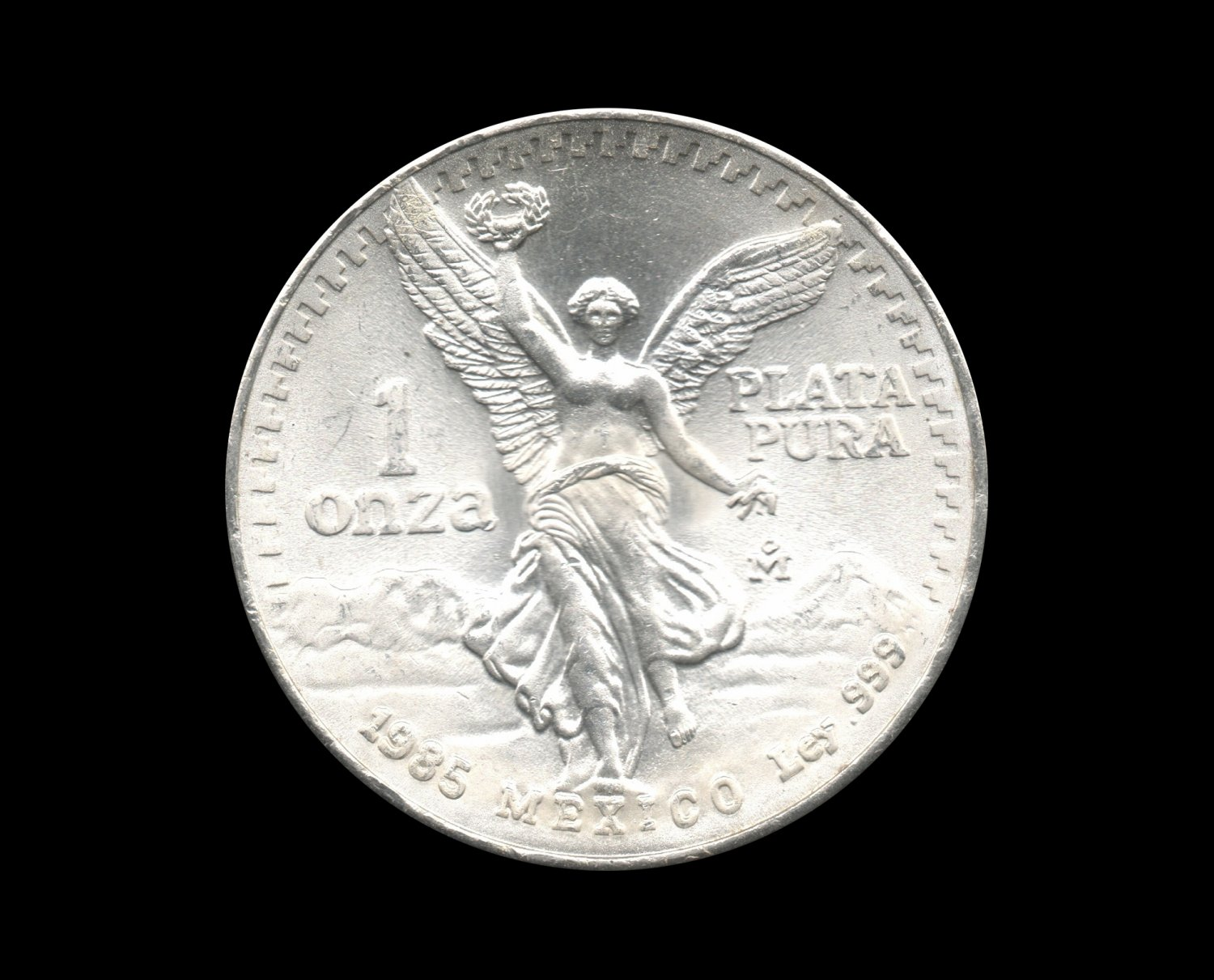 1985 Mexican Libertad Silver Bullion Coin 1 Troy Ounce