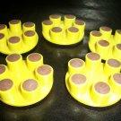 Lot of (5) - 6 Dot Resin Bonded Diamond Polishing Abrasive Wheels
