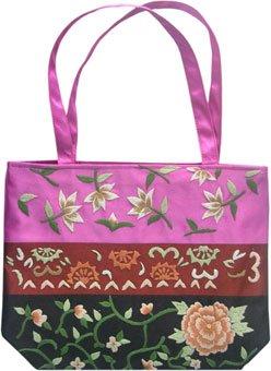 Typical Oriental Style Satin Handbag!