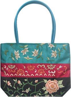 Typical Oriental Style Silk Satin Handbag