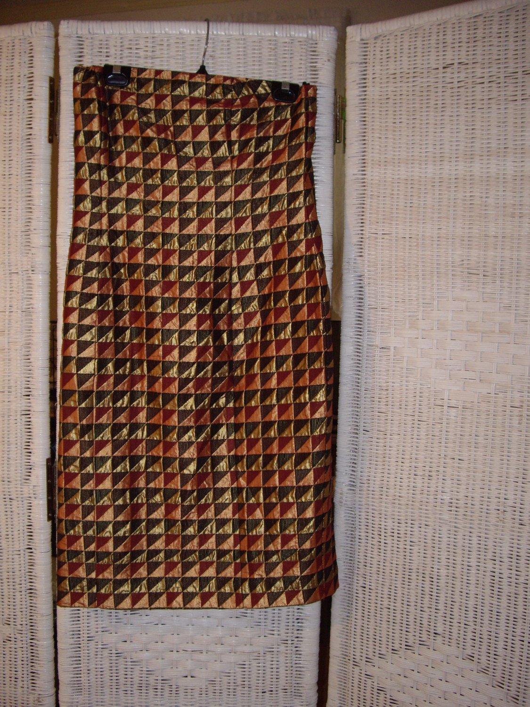 Vintage  Metallic Strapless Dress