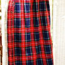 Long Tartan Plaid Skirt