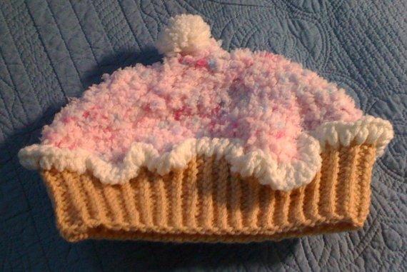 Knit Vanilla Cupcake hat