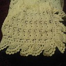 Crocheted Ivory Fan Design lapghan afghan blanket comforter