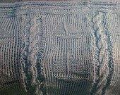 Baby Blue Knit nautical afghan throw blanket