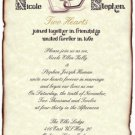 Hearts Love Valentines Wedding Scroll Invitations