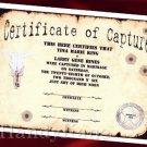Wedding Favors Keepsake Certificate Western Wanted