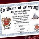 Wedding Favors Keepsake Certificate Renaissance
