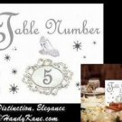 Cinderella Fairy Tale Wedding Favors Table Number Cards