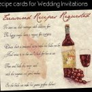 Tuscan Amore Italian Wine Wedding Favors Recipe Cards