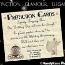 Wedding Favors Fairy Tale Cinderella Prediction Cards