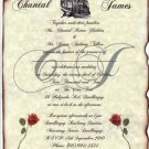 Train Locomotive Wedding Invitations Scrolls