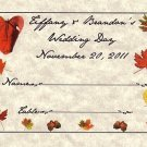 Autumn Fall In Love Wedding Favors Place Cards