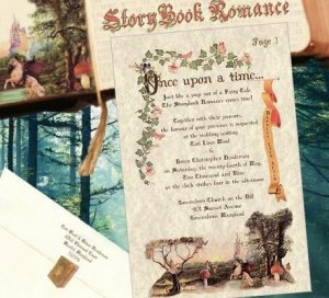Wedding Invitations Storybook Cinderella Fairytale plus