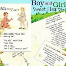 Boy & Girl 50's Theme Wedding Invitations Response Card