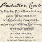 Tuscan Amore Wedding Favors Prediction Cards