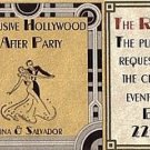 Hollywood Movie Wedding Reception Mini Tickets style A