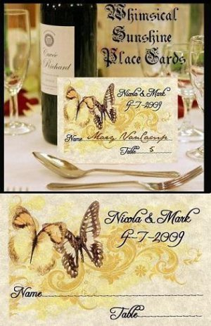 Whimsical Butterfly Wedding Favors Seating Place Cards