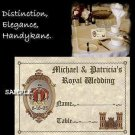 Royal Kingdom Wedding Favors Seating Place Cards