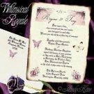 Wedding Scroll Invitations Whimsical Royal Purple Fairy