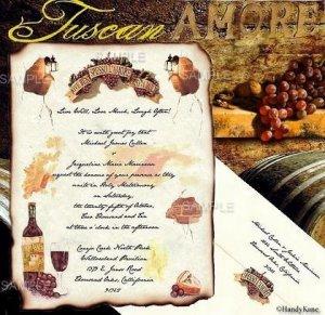 Tuscan Amore Italian Wedding Invitations Scrolls