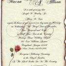 Scroll Wedding Invitations Love Letter Theme style B