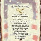 Wedding Scroll Invitations Patriotic Military Theme