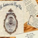 Cinderella FairyTale Regal Theme Wedding Invitations +