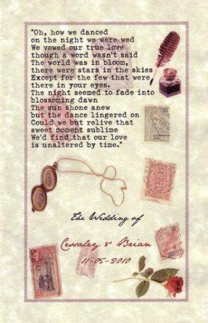 Love Letter vintage WEDDING favors Programs