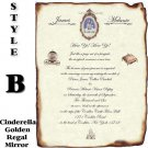 FairyTale Gold Mirror Scroll Wedding Invitations